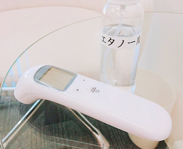 都度払い制エステサロンエピノート 新型コロナウィルス感染予防対策 検温・アルコール消毒