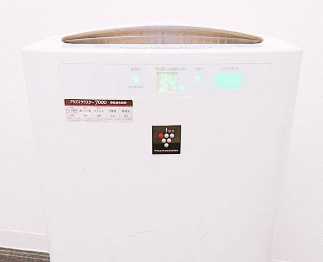 都度払い制エステサロンエピノート 新型コロナウィルス感染予防対策 プラズマクラスター空気清浄機の稼働